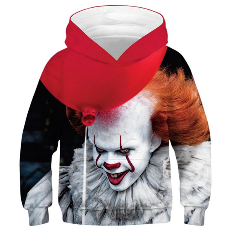 IT Chapter 2 Horror Movie 3D Printed Hoodies For Boys Girls Teenagers Oversized Hoodie Children's Sweatshirt For Boys Clothes