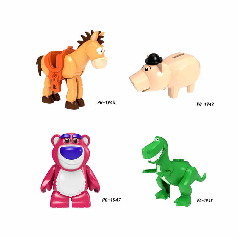 Spielzeug Geschichte 4 Woody Jessie Buzz Lightyear Cartoon Alien modell Figuren Bausteine Spielzeug für Kinder