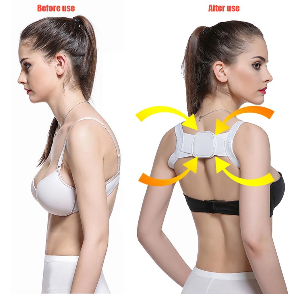 Posture Corrector Device Comfortable Back Support Braces Shoulders Chest Belt