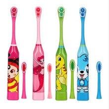 Cepillo de dientes eléctrico con patrón de dibujos animados para niños, doble cara, cabezales de cepillo de dientes eléctrico o cabezales de repuesto