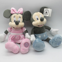 35cm Disney Classic Retro Mickey Mouse And Minnie Mouse Plush Toys Stuffed Soft Doll For Children Birthday Gift