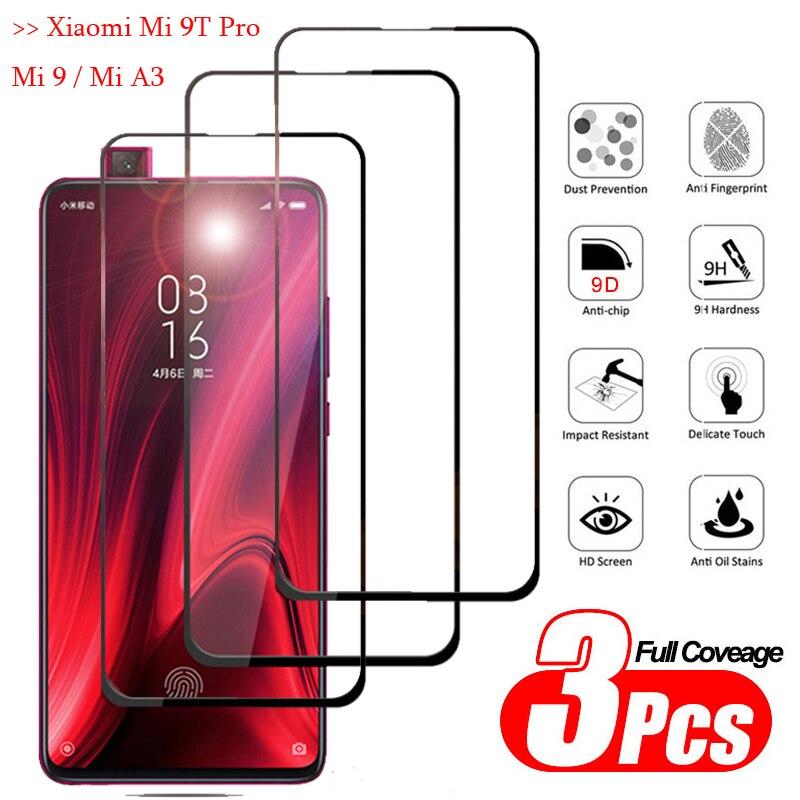 1-3Pcs Full Cover protector,Glasses Xiaomi Mi9 T Back Armor Glass redmi k20pro xiomi a3 Clear GlassFilm mia 3 xiaomi mi9tpro(China)