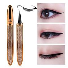 Cils magiques auto-adhésif liquide Eyeliner stylo sans colle magnétique sans maquillage cils outils crayon de revêtement imperméable pour les yeux