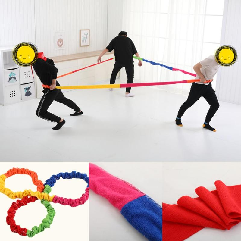 Cooperative Stretchy Band Sports Gym Exercise Elastic Band Elastic Fleece Rope Team Cooperation Work Develop Outdoor Sport