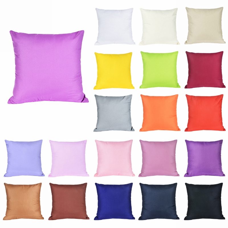 New Home Decorative Solid Pillowcases Cotton Linen Square Bedding Pillows Cover Soft Pillow Case Chair Wedding 40x40cm