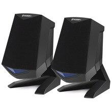 Speakers Computer Laptop Gaming Mobile-Phones Mini Portable Led-Light-Bass Audio Usb-Powered