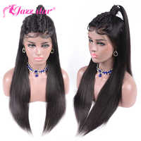 13x4 Lace Front Human Hair Wigs Pre Plucked For Black Women Non Remy Malaysian Straight Lace Front Wig With Baby Hair Jazz Star