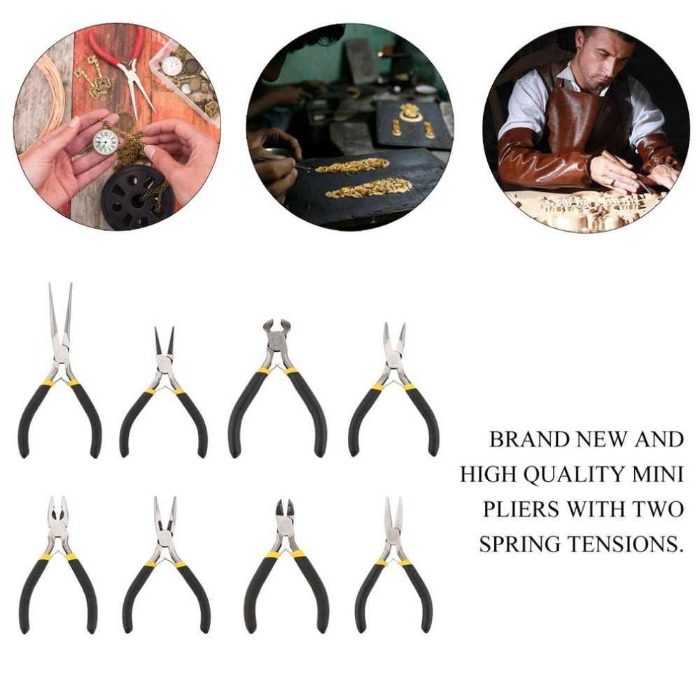 OUTAD nueva fabricación de joyería Mini alicates Kit de herramientas conjunto redondo de nariz larga plana Dropshipping