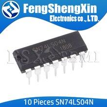 10 قطعة/الوحدة SN74LS04N DIP 14 SN74LS04 HD74LS04P 74LS04 74LS04N DIP IC