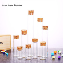 30 мл 35cml 50 мл 120 мл лабораторная стеклянная пробирка с пробками пробки бутылки с пробковой пробкой большой емкости