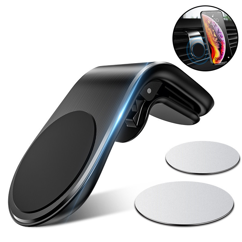 360 Metal Car Phone Holder For IPhone 11 X In Car Magnetic Air Vent Mount Stand For Tablets Xiaomi Mi9 Note10 GPS Phone Holder