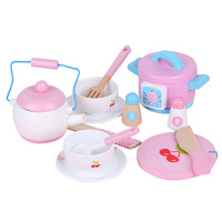 Mini kitchen cooking toys girls small kitchenware tableware really cooking play set house children