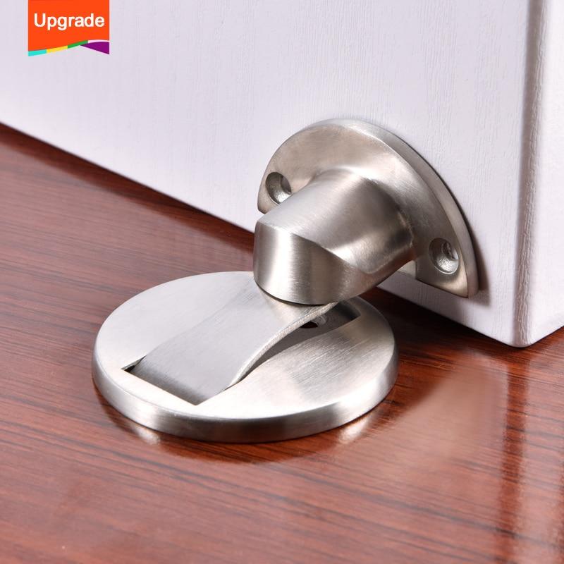 Upgrade Magnet Door Stops Stainless Steel Door Stopper Magnetic Door Holder Toilet Glass Door Hidden Doorstop Furniture Hardware