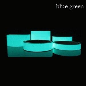 Image 5 - Светящаяся флуоресцентная Ночная самоклеящаяся светящаяся в темноте клейкая лента YX безопасное домашнее украшение предупреждающая клейкая лента