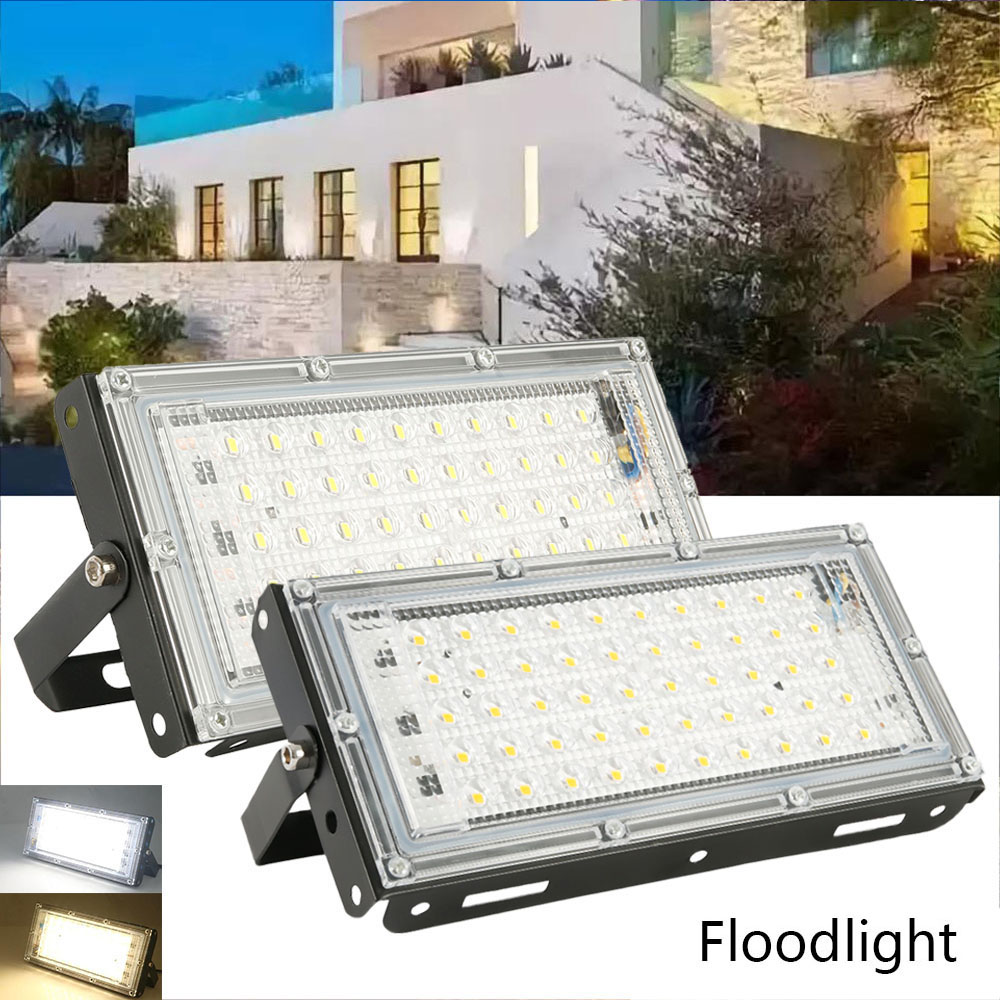 Waterproof Ip66 LED Flood Light 50W AC 220V Spotlight Outdoor Garden Lighting Led Reflector Cast light Floodlights