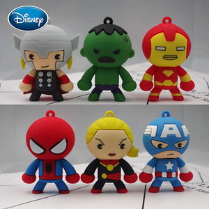Disney Q Edition Doll Rubber Toy Doll Captain America Thor Iron Man Epoxy Doll DIY Keychain Material Accessories
