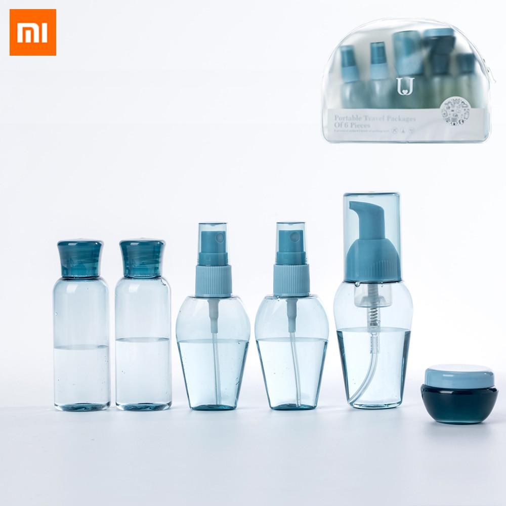 6 шт., набор силиконовых бутылочек для путешествий Xiaomi, портативный удобный полезный, безопасный, многоразовый, для семейного путешествия, умного дома|Смарт-гаджеты|   | АлиЭкспресс