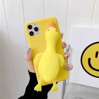Relive Stress 3D Bubble Duck Case per Samsung Galaxy J2 J3 J4 J5 J6 J7 Prime J8 A5 A6 A7 A8 Plus A9 2018 2017 Fidget Toys Cover