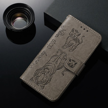 Embossed  Flip Cute Tiger Cat Case for Xiaomi Redmi Note 7 7A Wallet PU Leather Cover For K20 Pro k20pro