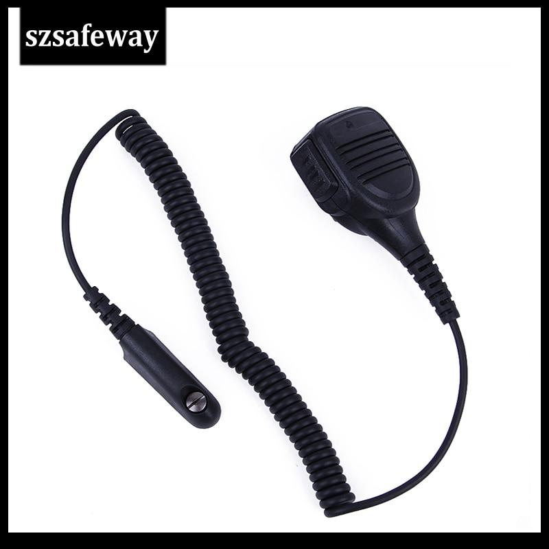 Waterproof IP54 PPT Mic Speaker Microphone For Motorola Two Way Radio GP320 GP328 GP338 GP380 GP340 PRO5150