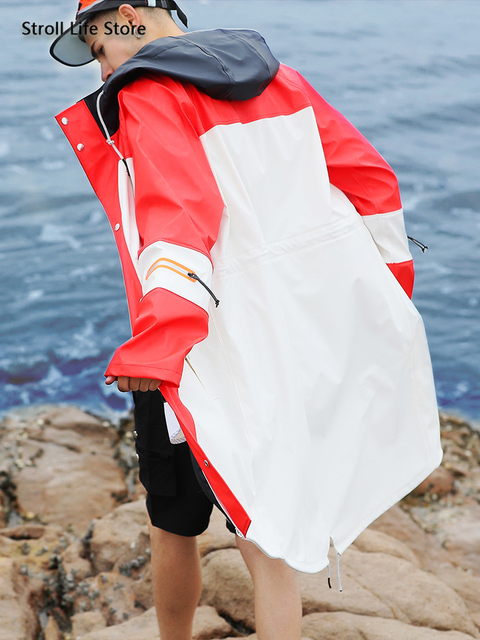 Waterproof Long Rain Coat Women Pink Trench Raincoat Long Outdoor Jacket Cover Rain Poncho Hiking Adult Gabardina Mujer Gift 3