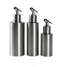 3 Pcs Stainless Steel Kitchen Oil Bottle Leak-Proof Soy Sauce Vinegar Cruet Storage Dispenser BBQ Sprayer 250/350/550 Ml