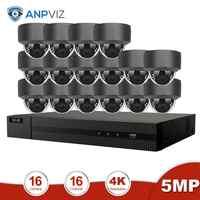 Anpviz 16CH 4K NVR 5MP Dome/4X Optical POE IP Camera Kit Home/Outdoor Security Systems ONVIF CCTV Video Surveillance NVR Kit