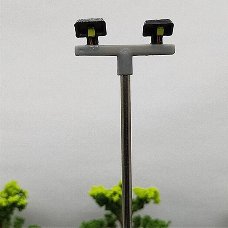 10 шт. 2Led уличный светильник 1:100 Ho Масштаб уличный светильник мини-фонарь для песка настольная модель 2