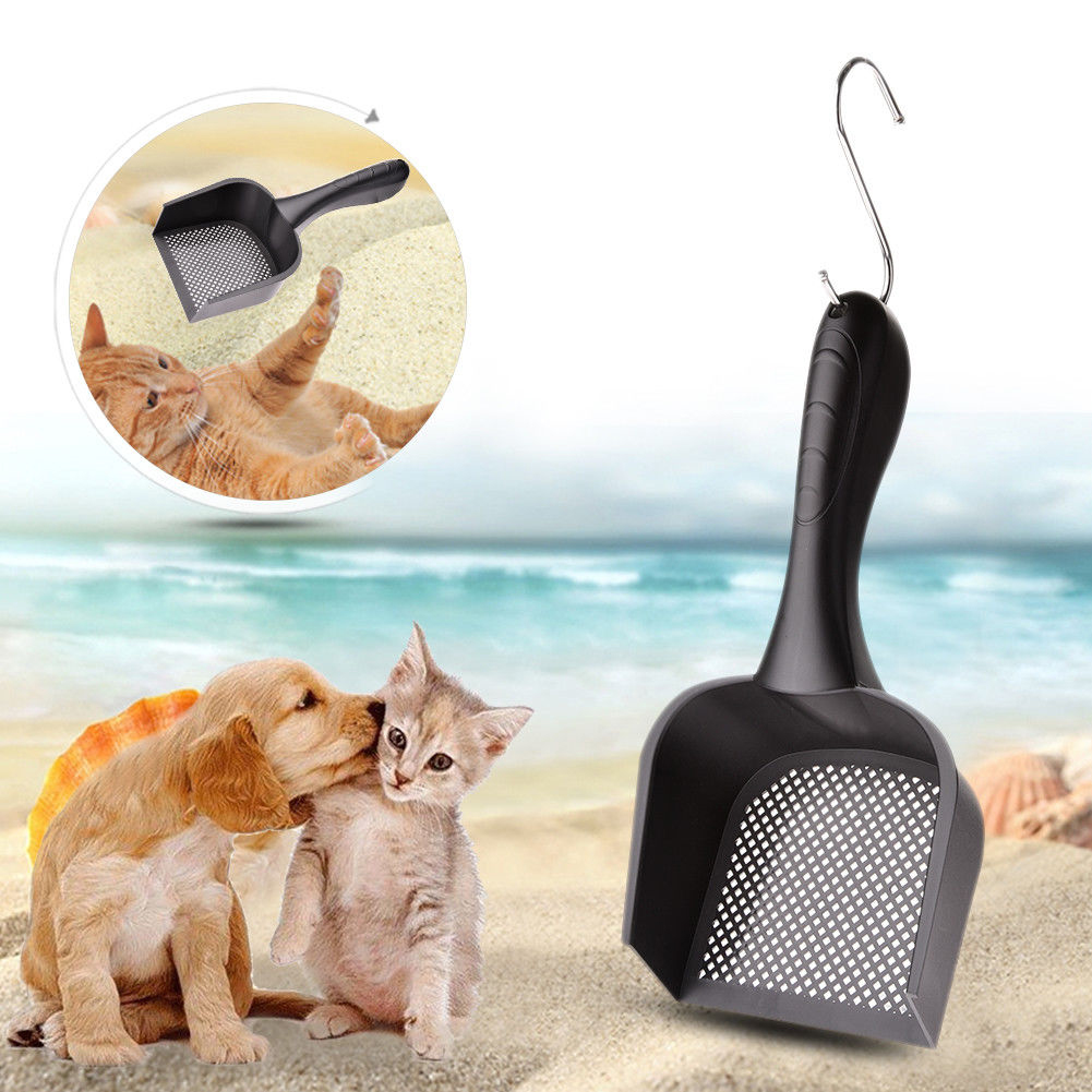 Durable Non-toxic Cleaning Tool Portable Safe Home Indoor PVC Shovel Cat Litter Scoop Pet Supply Easy Use Tray Practical