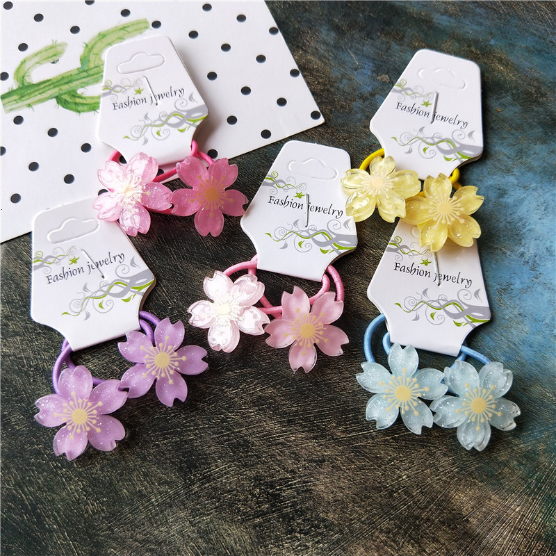 2PCS New Cute Little Flowers Princess Headwear Kids Elastic Hair Bands Children Ropes Girls Accessories Baby Headdress