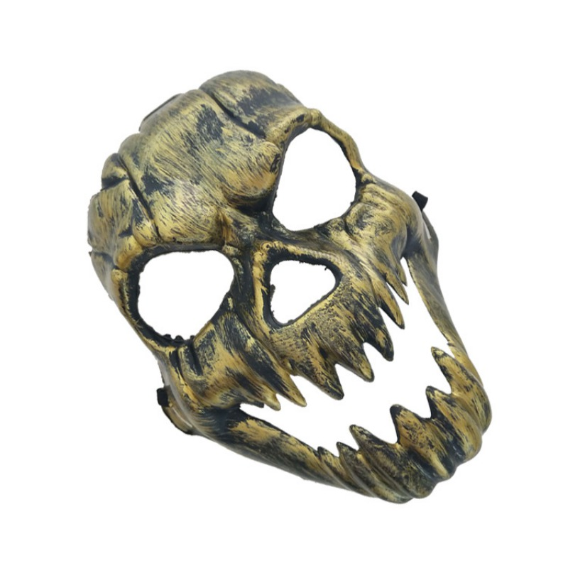 Halloween Metal Plastic Skull Mask Gold Silver High Quality Full Face Skull Mask Party Supplies Horror Props - 4