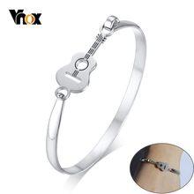 Женский элегантный браслет для гитары Vnox, браслет из нержавеющей стали, музыкальный аксессуар в подарок