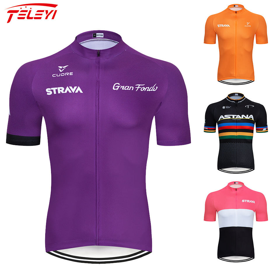 2019 strava Cycling Jerseys Men Summer MTB Bike Jersey Bicycle Shirt Short Sleeve Cycling Clothing Maillot Ropa Ciclismo title=