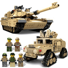цены KAZI New Theme Tank Building Blocks 1463pcs Building Blocks M1A2 ABRAMS MBT KY10000 1 Change 2 Toy Tank Models Toys For Children