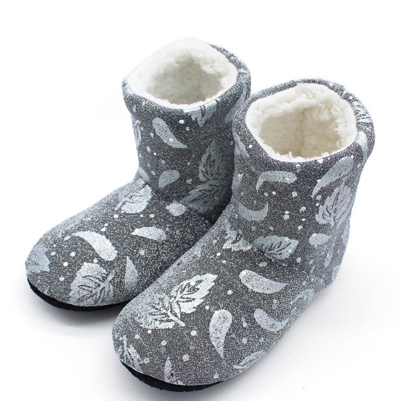 Stiefel Socken Winter warm schöne Boden Schuhe rutschfeste weiche Plüsch Haussch