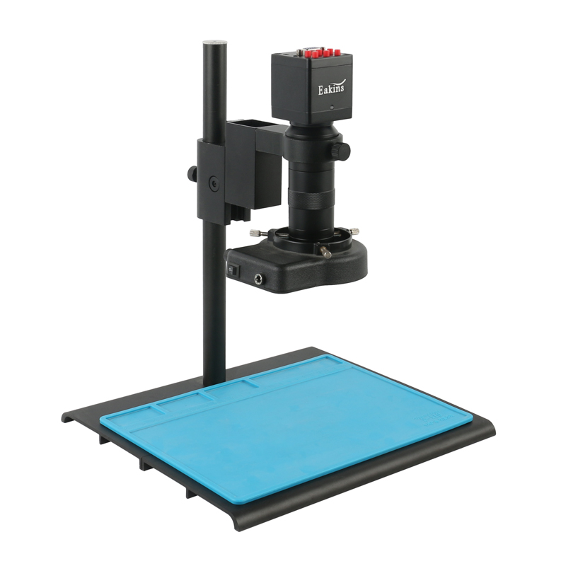 13MP HDMI VGA Industrial Microscope Camera 8X -100X Zoom C-mount Lens 56 Led Lights For Soldering Pcb Phone Repair Tools