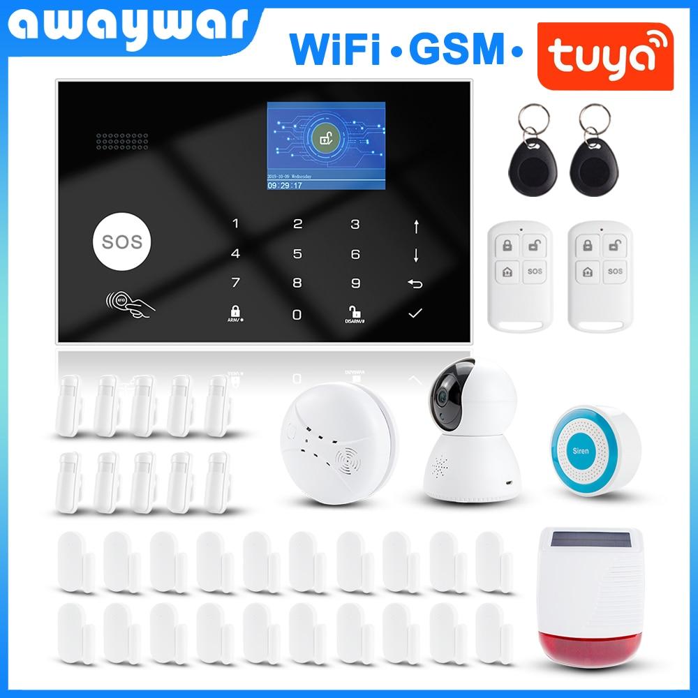 awaywar tuya 433 mhz wi fi sem fio gsm rfid sistema de alarme seguranca kit app