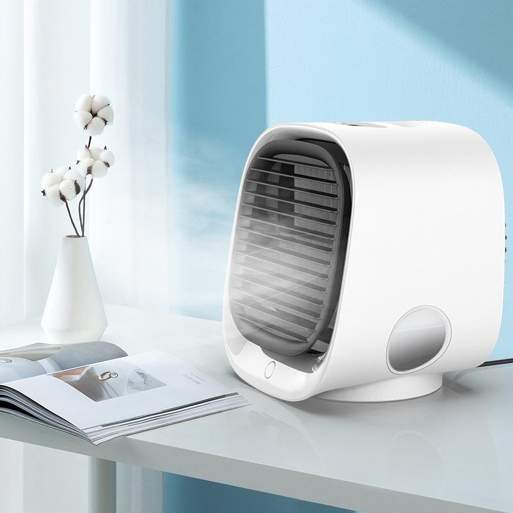 Home Mini Air Conditioner Portable Air Cooler Arctic Air DesktopUSB Space Cooler Cooling Fan Rechargeable Home Office Desk Fan