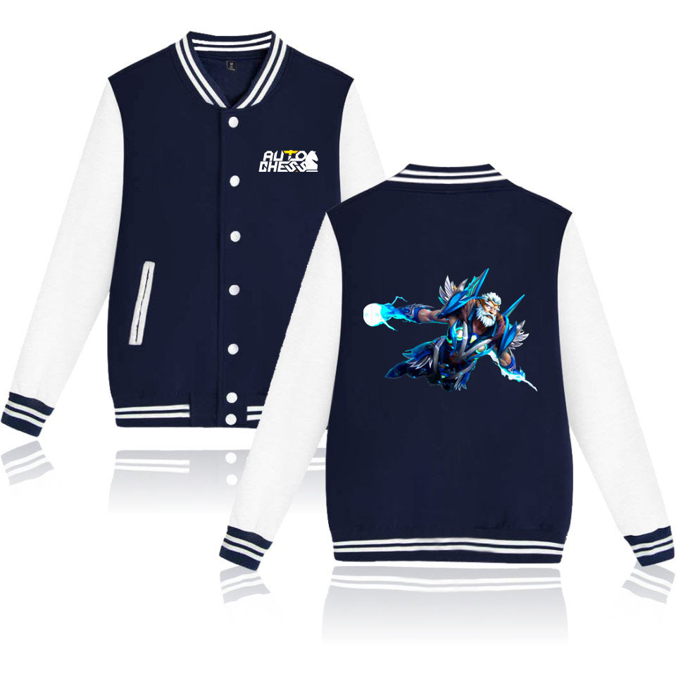 2019 New Style Game Pioneer Auto Chess Turret Self-Moves Related Products Printed Men And Women Baseball Uniform Coat image