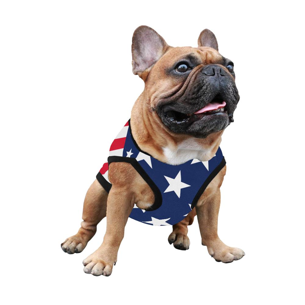 Able Custom The American Flag Dog Tank Top Clothes Dog Shirt For Dogs Dog Clothes For Small Dogs Summer Dog Clothing T Shirt For Dogs