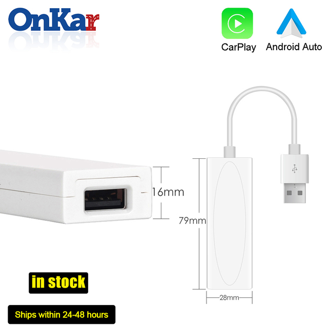 ONKAR Carplay Dongle USB אנדרואיד אוטומטי עבור אנדרואיד רכב ראש יחידת DVD מולטימדיה ניווט חכם קישור הפעלה אוטומטית תמיכת IOS