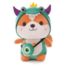купить 25/45CM Unicorn Plush Toy Cute Squirrel Doll Turned Dinosaur Bees Elk Soft Plush Toy Children Birthday Gift Christmas Gift по цене 584.88 рублей