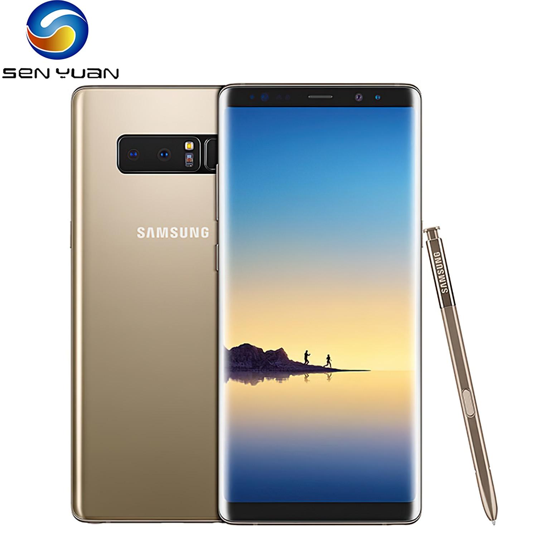 Оригинальный разблокированный мобильный телефон Samsung Galaxy Note 8 N950F N950U Note8, 4G LTE, Восьмиядерный, 6,3 дюйма, двойная камера 12 МП, 6 ГБ ОЗУ, 64 Гб ПЗУ