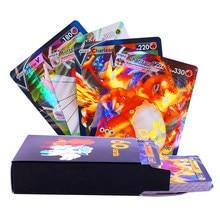 Cartes Pokemon 140V, Version anglaise française, Dracaufeu V VMAX GX TAG TEAM, brillantes, jeu, Carte de combat, Trading, jouet pour enfants, nouvelle collection