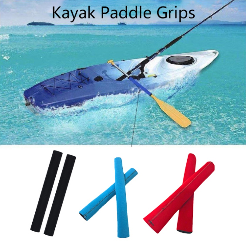 Prevents Rubs//Blisters,Efficient Paddling,Red Kayak Boat Paddle Grips Covers