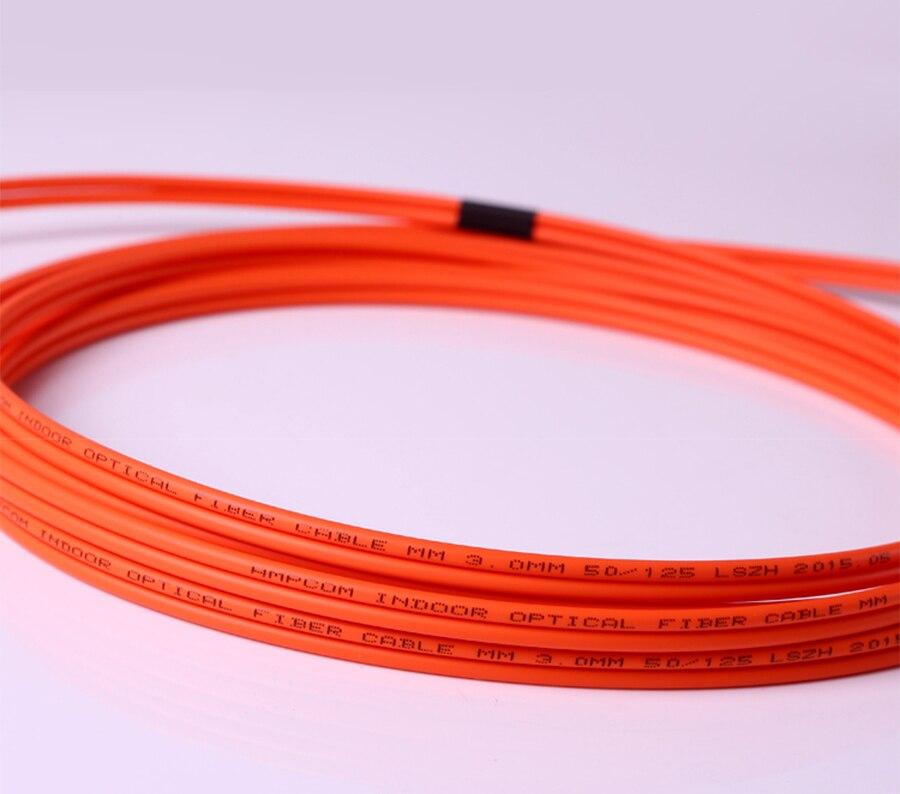 AMPCOM LC к LC волоконный патч-кабель многомодовый дуплексный-50/125um OM2-LC/UPC к LC/UPC