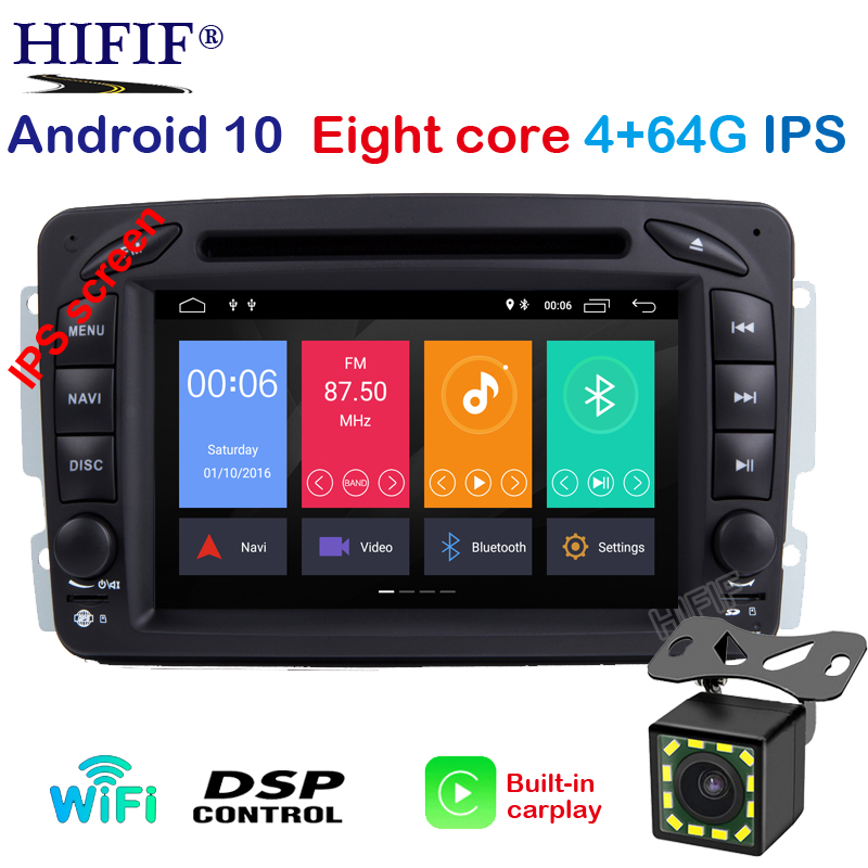 2DIN Android 10 <font><b>Car</b></font> dvd multimedia player <font><b>radio</b></font> For Mercedes Benz W209 W203 W168 <font><b>ML</b></font> <font><b>W163</b></font> W463 Viano W639 Vito GPS Navigation BT image