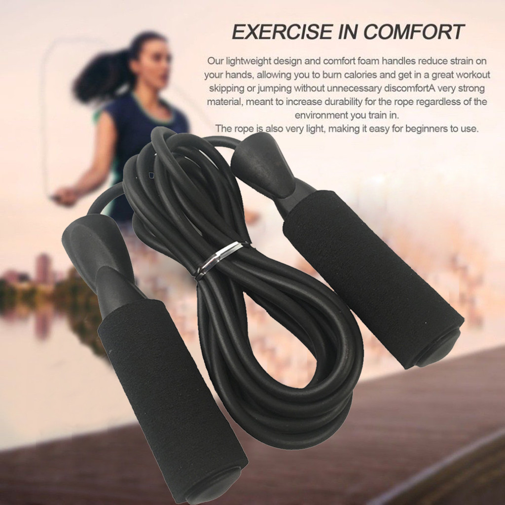 2PCS Jump Rope-Adjustable Speed Jumping Cable Skipping Rope Ball Comfortable