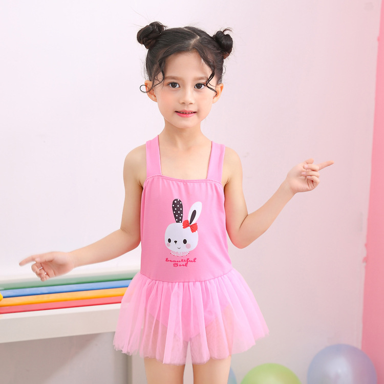 2019 New Style KID'S Swimwear Small CHILDREN'S WOMEN'S Swimsuit Skirt Camisole Princess Hot Springs Swimwear Factory