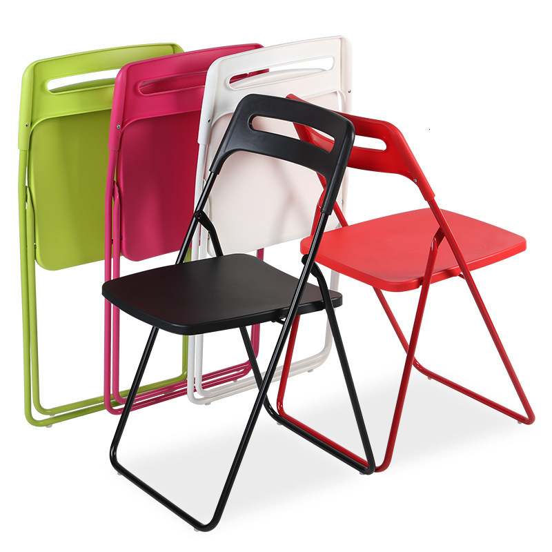 Northern Europe Simple And Easy Plastic Folding Chair Chair Leisure Time Home Computer Chair Staff Member Chair|  - title=